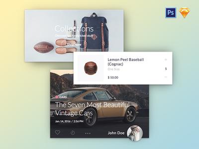 Kauf UI Kit Bundle. PS + Sketch