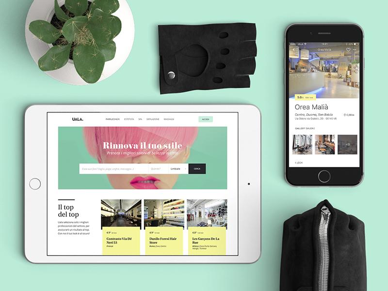 Uala responsive mobile design booking ipad iphone presentation website web design app design ux ui
