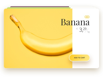 The B-Side of the food :) buy online. cart joke experiment colorful extravagant food banana