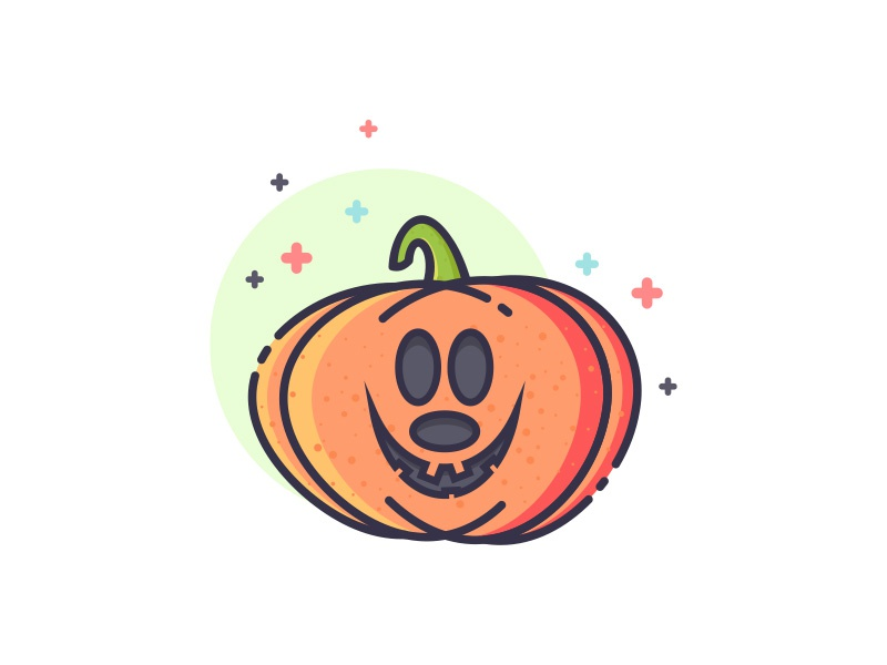 Bad Mickey Pumpkin spooky yebo smile bad mickey mouse illustration icon design pumpkin halloween