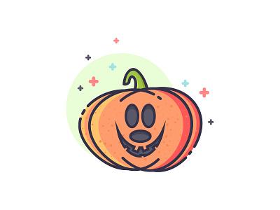 Bad Mickey Pumpkin spooky yebo smile bad mickey mouse illustration icon design pumpkin halloween