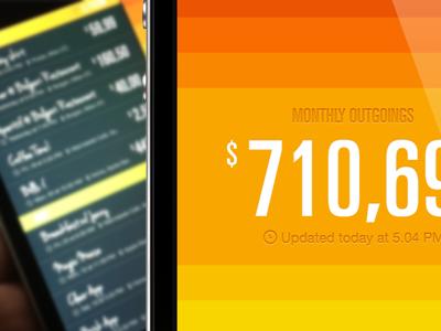 Balance App photo cloud list outgoings cash balance app iphone apple ux ui