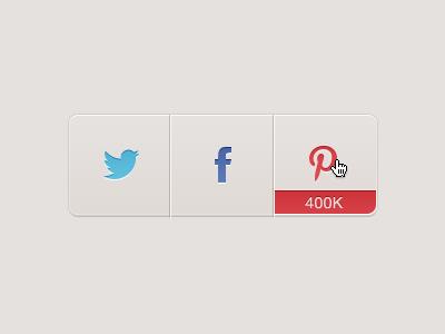 Share Buttons. Freebie share freebie facebook twitter pinterest buttons free psd ui