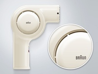 Braun Hairdryer NHD6