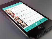 WhatsApp re-design ui ux re-design app mobile apple ios iphone5 white green whatsapp
