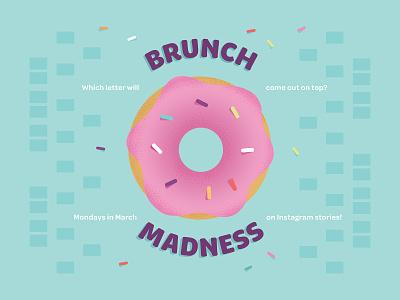 Brunch Madness Bracket childrens book illustration baby sprinkles bracket march madness madness brunch donut