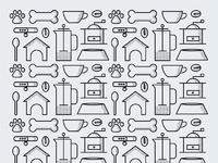 Indie coffee roasters pattern full d