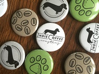 Indie Coffee Roasters 1in. Buttons