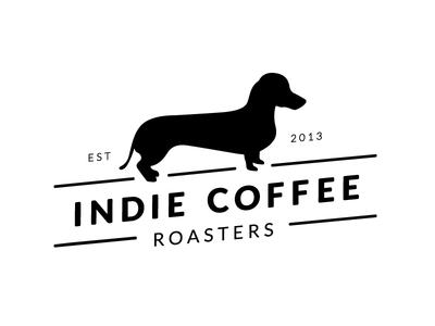 Indie Coffee Roasters Updated Logo Mark coffee logo roasting coffee roasting coffee dog logo dachshund