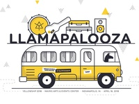 Llamapalooza Event Poster