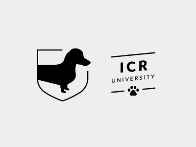 Indie Coffee Roasters University seal flag mark brand coffee dachshund class school academic university
