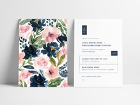 Modern + Romantic Wedding Invitation