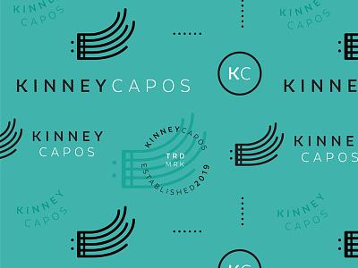 Kinney Capos Brand Pattern typography logo musician music staff brand system branding capo kinney music pattern