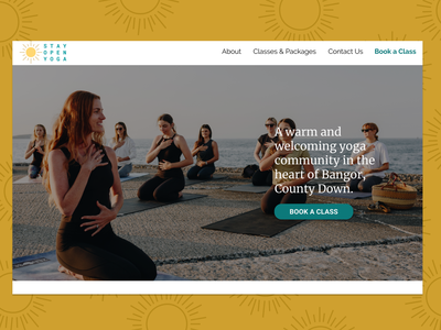 Responsive Yoga Website research ui inclusive ux design branding