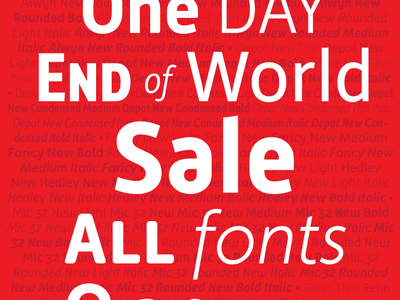Moretype - End of World Sale moretype fonts sale end of world