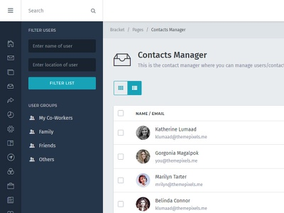 Contact Manager admin template dashboard manager contact