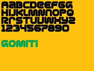 Alphabet 9 (Gomiti) typography type design type geometric font