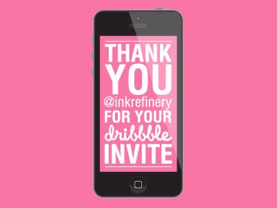 Dribble invite thankyou web