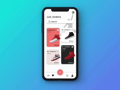 Jordans Store store figma app ui design