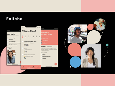 Fallcha — Ad ios abstract calendar schedule onboarding hr branding ux ui dublin ireland mobile