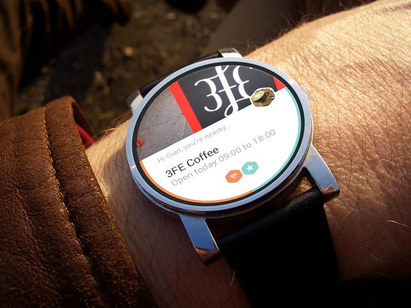 Dublin Coffee Wear moto 360 android wear wearable dublin ireland mockup concept coffee brew mobile watch