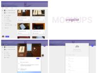 Craigslist redesign process mockups