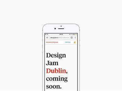 Design Jam Dublin — Shipped design jam dublin ireland landing shipped web html css tiempos headline lato mobile