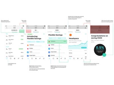 N26 x Headspace — Flow account balance auto chart graph feature meditate saving banking fintech headspace n26