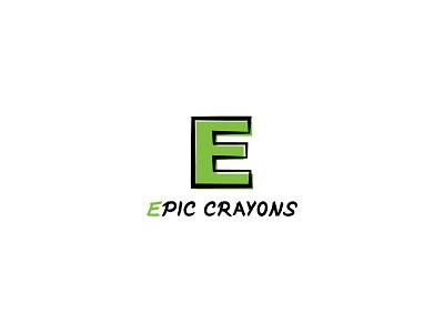 Epic Crayons crayons epic typography dailylogochallenge dailylogo minimal logodesign logo illustration graphicdesign design branding