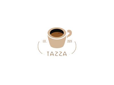 Tazza coffee cup typography dailylogochallenge dailylogo minimal logodesign logo illustration graphicdesign design branding