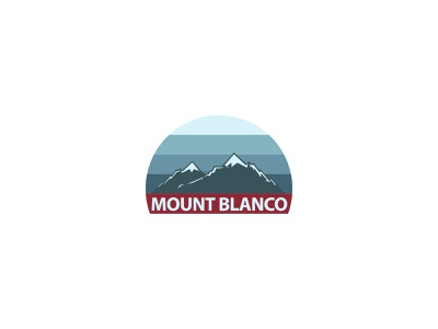 Mount Blanco sky mountain typography dailylogochallenge dailylogo minimal logodesign logo illustration graphicdesign design branding
