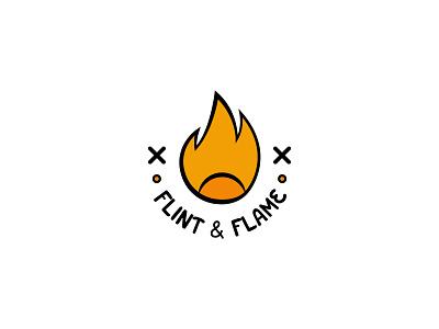 Flint & Flame flame typography dailylogochallenge dailylogo minimal logodesign logo illustration graphicdesign design branding
