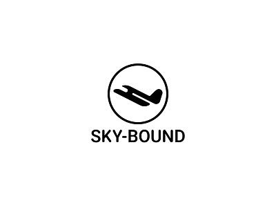 Sky Bound plane typography dailylogochallenge dailylogo minimal logodesign logo illustration graphicdesign design branding