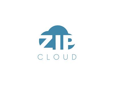 Zip Cloud net cloud zip typography dailylogochallenge dailylogo minimal logodesign logo illustration graphicdesign design branding