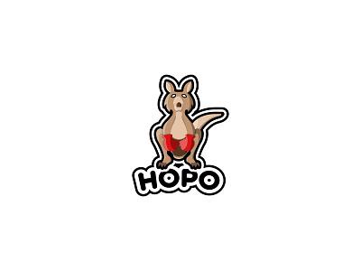 Hopo boxing kangaroo mascot typography dailylogochallenge dailylogo minimal logodesign logo illustration graphicdesign design branding