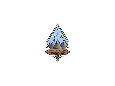 Pikake national park pikake nallon nature park mascot dailylogochallenge dailylogo minimal logodesign logo illustration graphicdesign design branding
