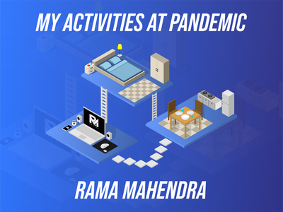 MY ACTIVITIES AT PANDEMIC vector isometric illustration isometric design isometric art isometric illustration flat design