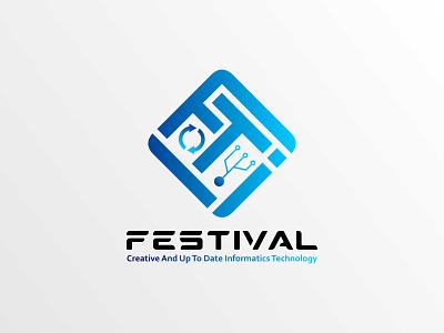 FTI Fest logo design logodesign flat branding logo design