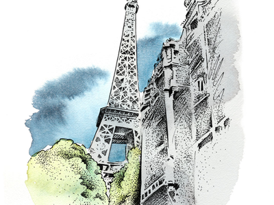 One of five illustrations for Nilorn Branding&Design magazine. freelance frilans stippling paris magazine magasin tusch ink aquarelle akvarell illustration