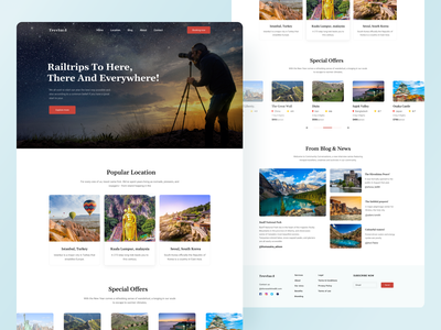 Travel Landing Page clean minimal simple inspiration minimalist light website landing page web design homepage traveling travel agency travel app travel website traveling website holiday website travel homepage user interface layouts