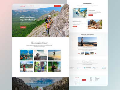 Travel landing page UI design landing page website homepage web design travel travel blog photography travel agency community travel app travelling travel web travel website website design mockup colorful nature travel packages travel guide trip planner