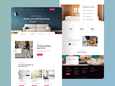 Hotel Room Booking Landing Page UI Design landing page website ui web design travel travel agency client hotel app hotel web hotel website website design colorful nature travel packages hotel guide trip planner clean minimal inspiration
