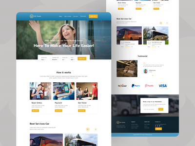 Bus Ticket Booking Landing Page UI Design ticket booking templates bus ticket creative design web design landing page typography branding trending design web website booking flight hotel travel journey platform ticket