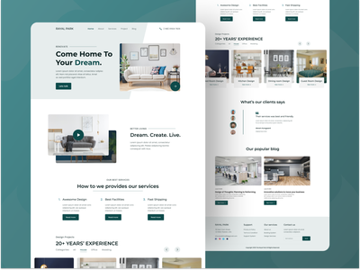 Interior Room Design Landing page UI Design design graphic design interior design interface ui ux home room decor furniture web web design website ecommerce online shopping interaction design catalog page minimalism user interface user experience