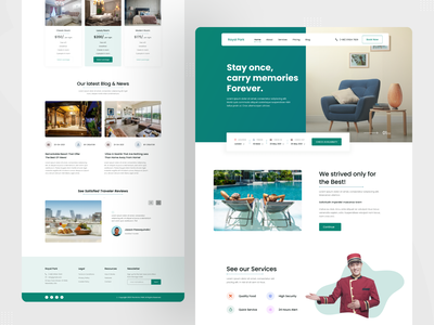 Hotel Room Booking landing page hotel room minimal clean trip planner hotel guide travel packages hotel website design hotel website hotel web travel agency travel web design hotel landing page visual hotel templates ux design website ui