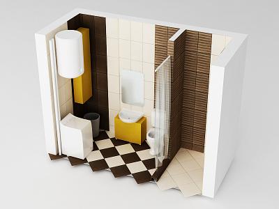 Bathroom 3d model 3d model 3d studio max industrial design vray