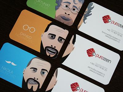 Purezeen Businesscards business cards printing illustration cartoon