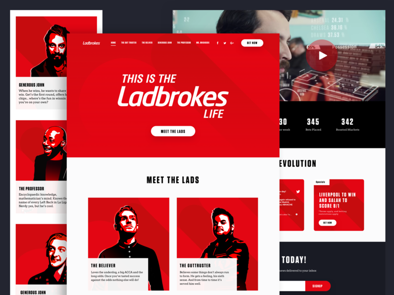 Ladbrokes Life Landing Page Design by Mo Oli on Dribbble