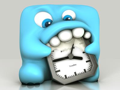 First Monster App Icon app icon monster cute blue clock bite timebite sailplane