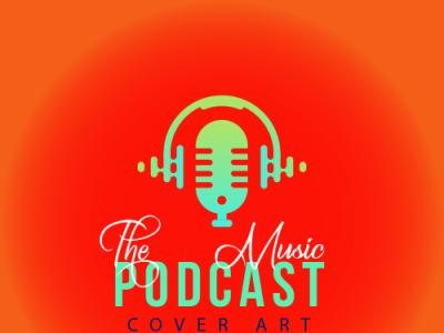 Podcast cover art typography branding logo portfolio art cover podcast